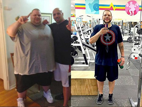 Ronnie continued his life changing regimen of eating healthy, consuming  less than 1,500 calories per day and working out twice a day.
